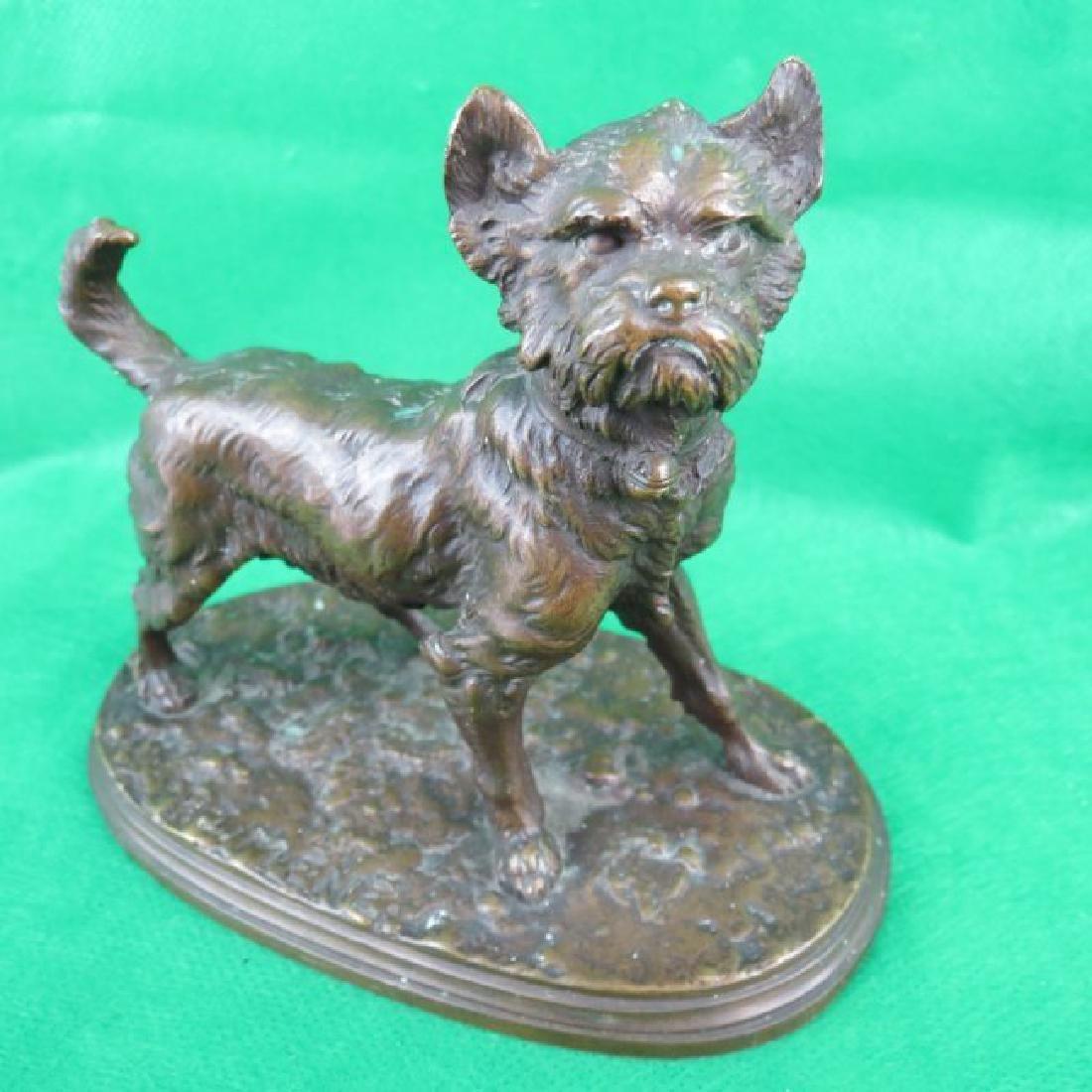 Bronze by P.J.Menne, Dog. - 2