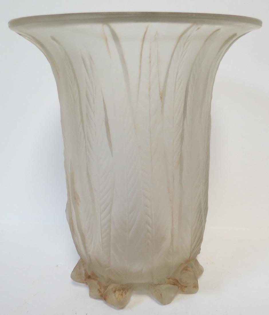 "R. Lalique Glass Vase (Original) H: 6.5"""