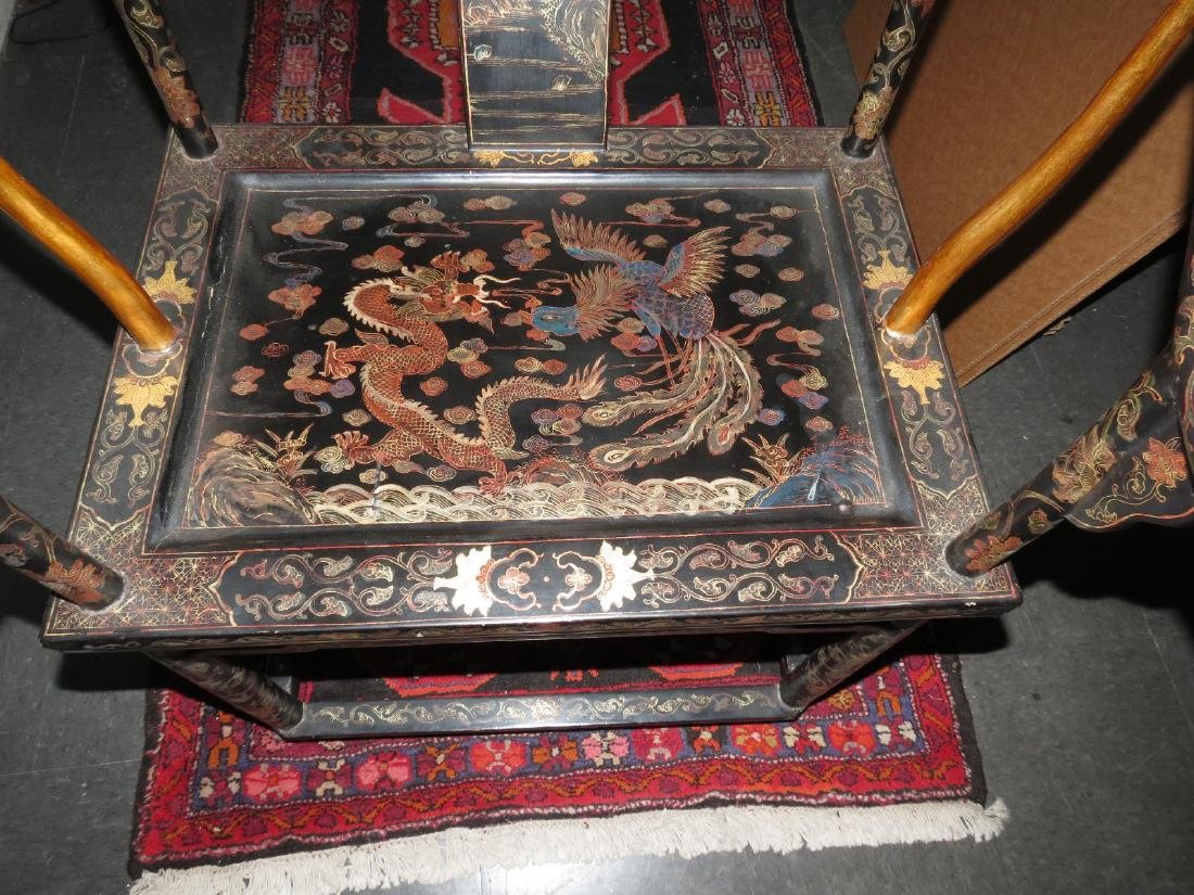 Antique pair of Chinoiserie armchairs Qing dynasty - 8