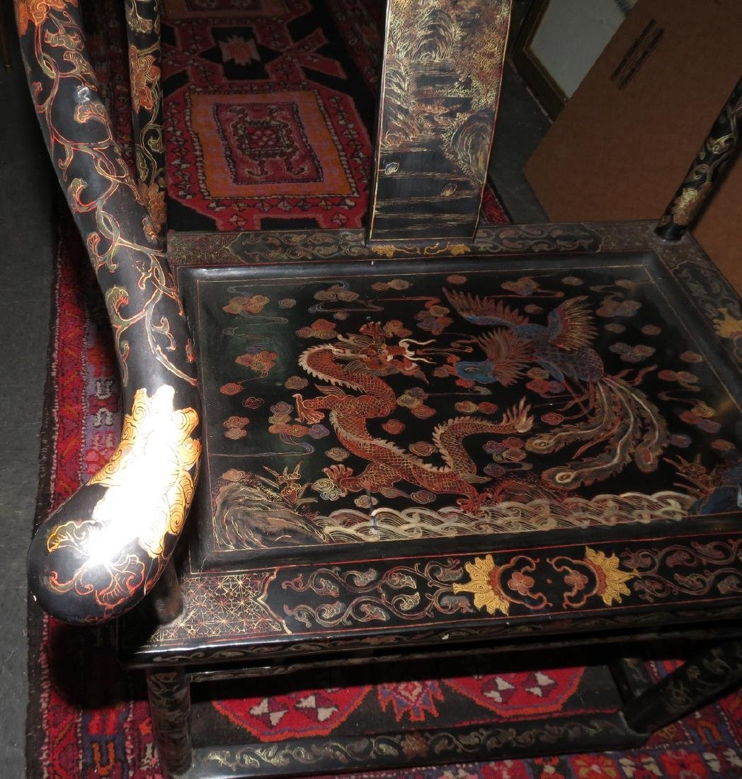 Antique pair of Chinoiserie armchairs Qing dynasty - 9