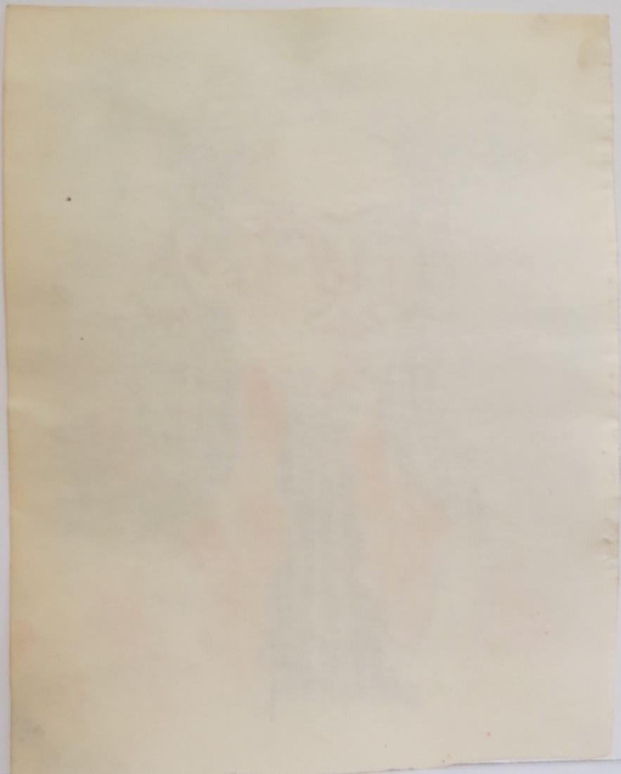 "Frida Kahlo - Color pencil on paper - Draft  8.1"" x - 3"