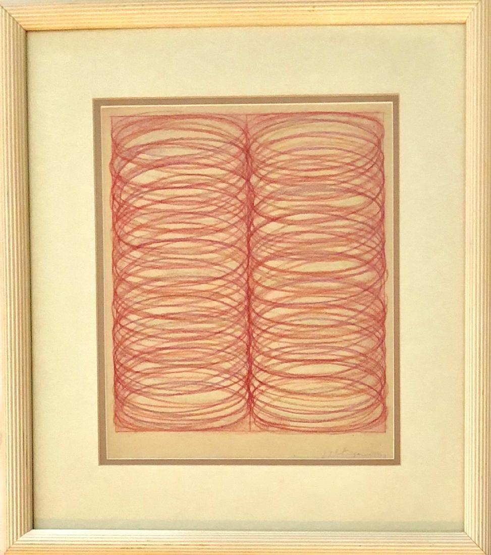 Dan Christensen 1966 Color pencil & crayon on paper