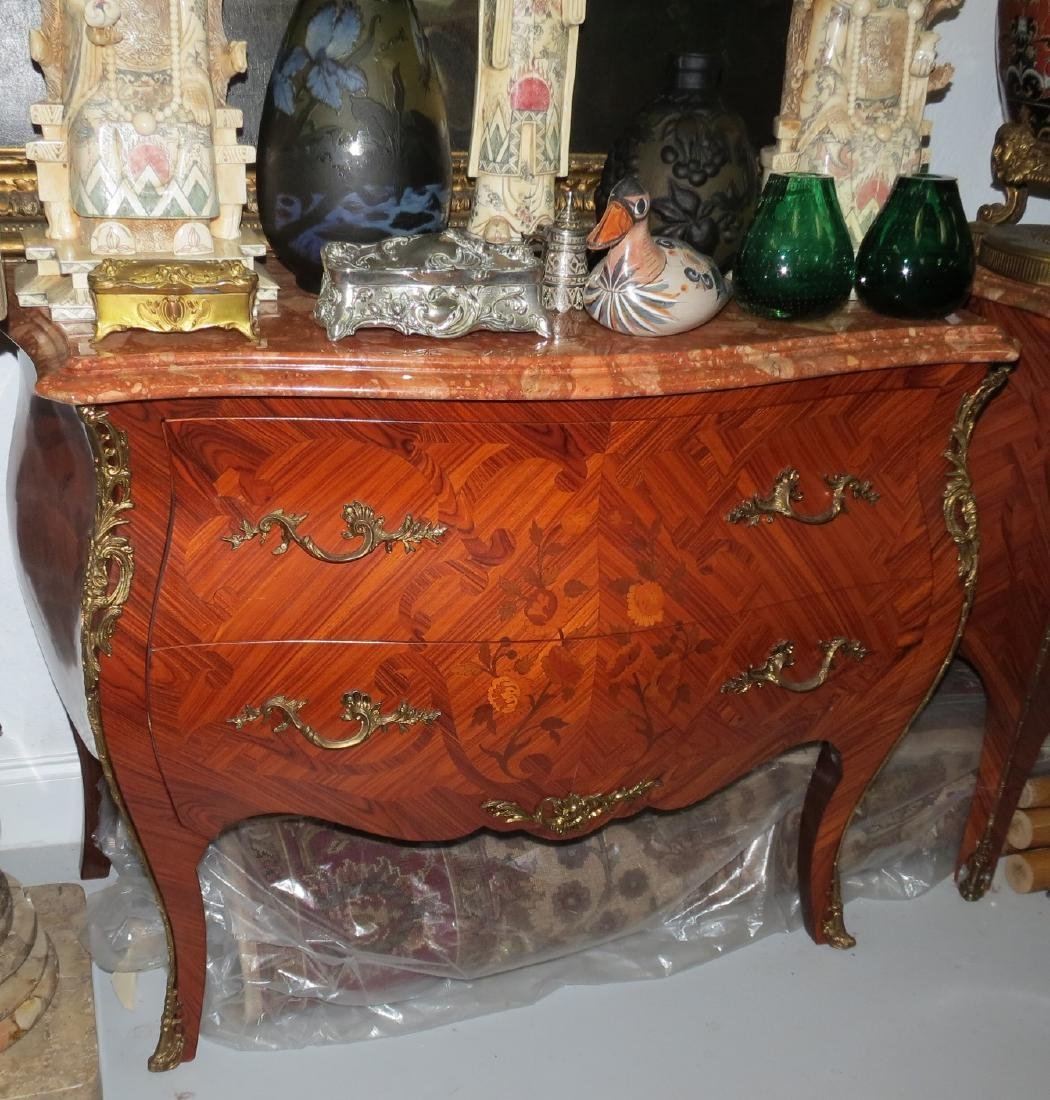 Empire Style Commode , Marble top two drawers