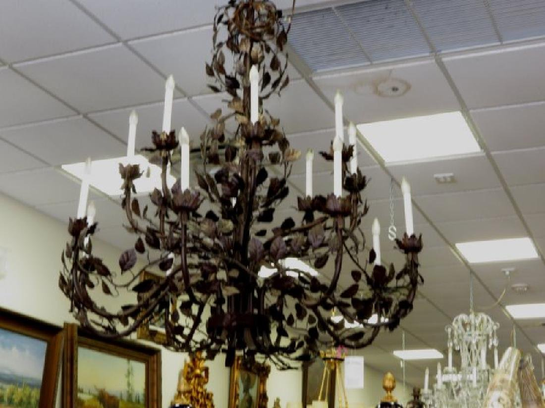 Unique Chandelier Italian, Iron Hand made.
