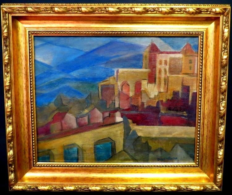 Diego Rivera 1913 - Oil on Canvas - Cubist Style COA