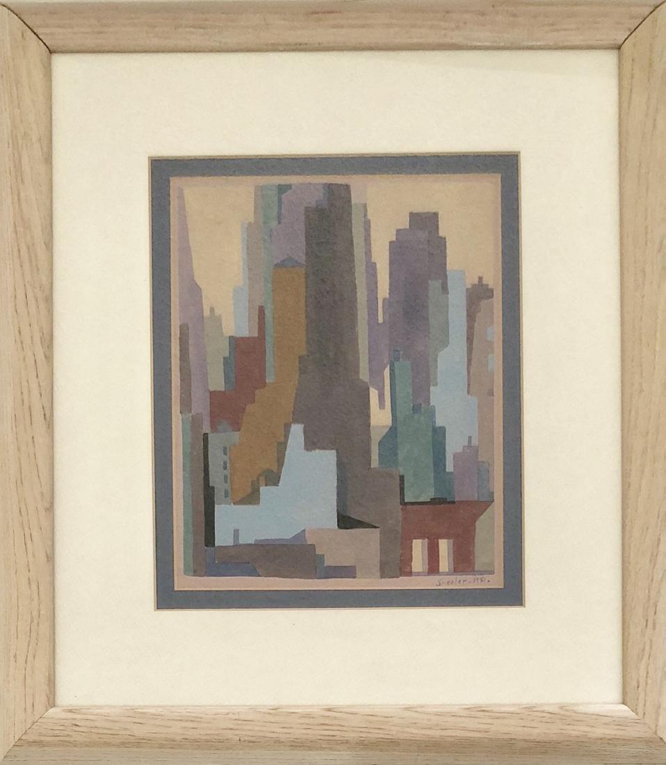 "Charles Sheeler 1951 Gouache on Paper 10.5"" x 8.5"""