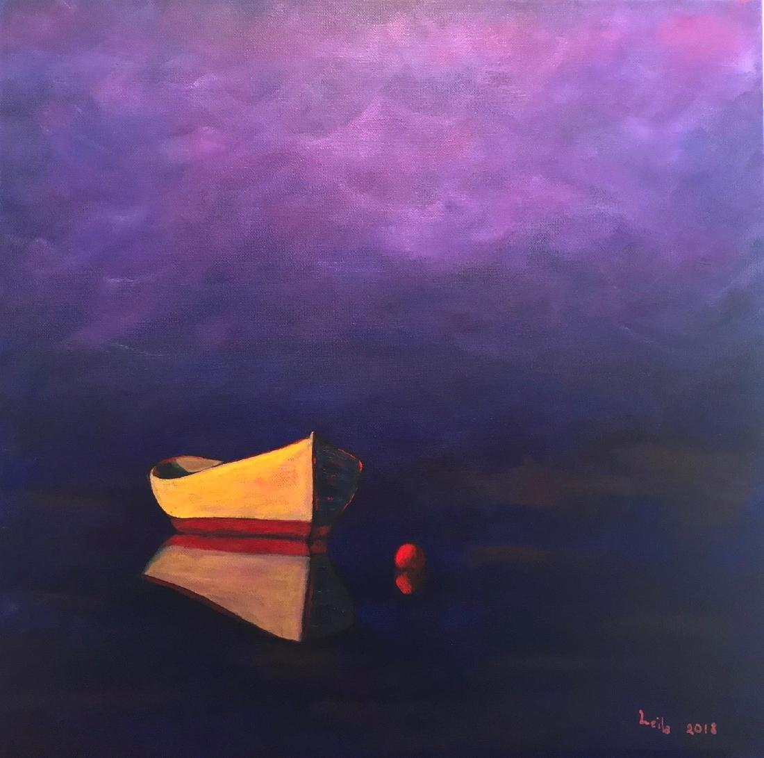 "Leila Gonzalez ""Yellow Boat"" 2018, Mixed Media. COA"