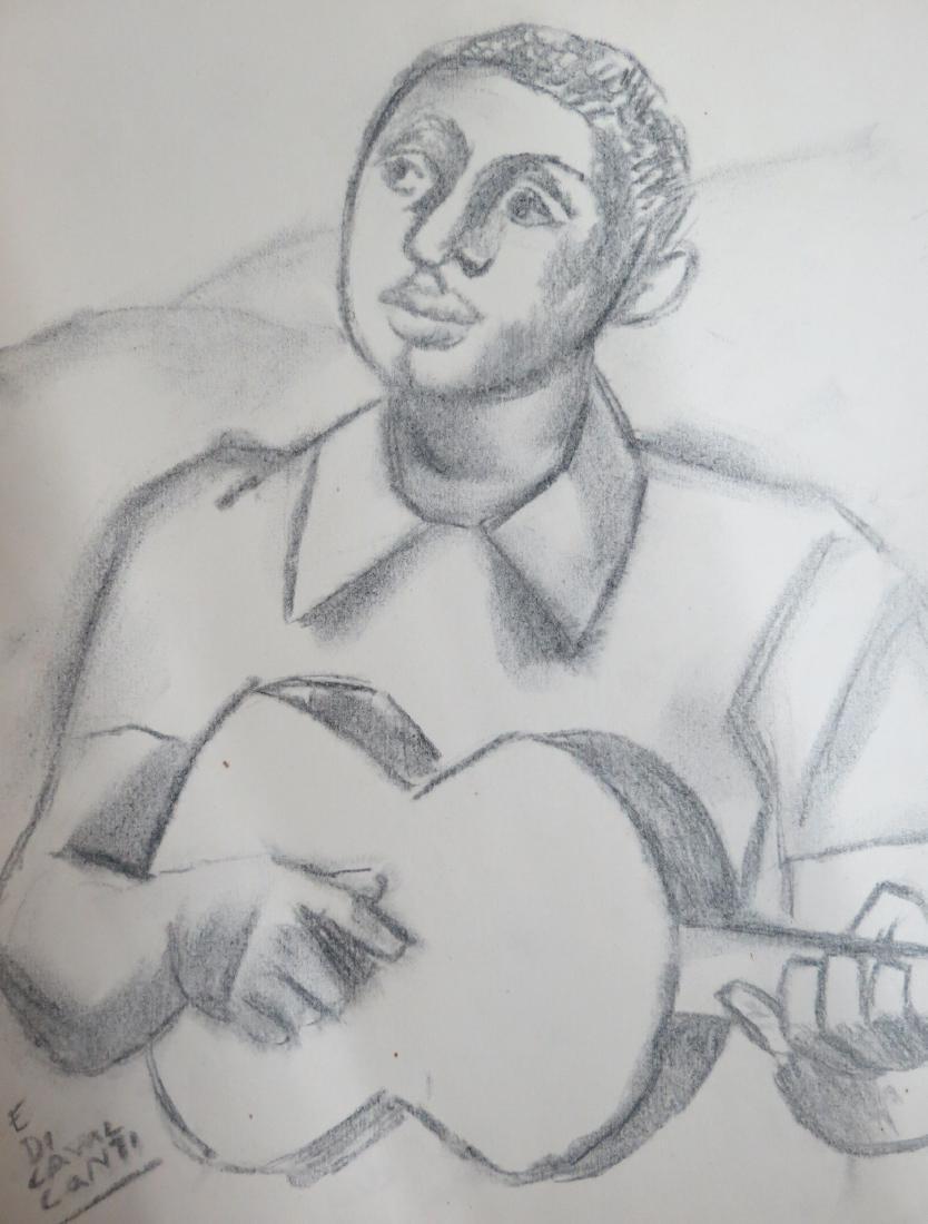 Emiliano Di Cavalcanti - Pencil on Paper  (Rough draft)