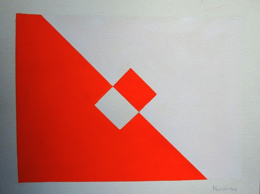 "Carmen Herrera - Attrib. Acrylic on paper - 11"" x 14"""