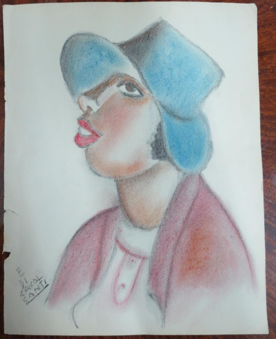 E Di Cavalcanti Color Pencil on Paper  (Rough draft)