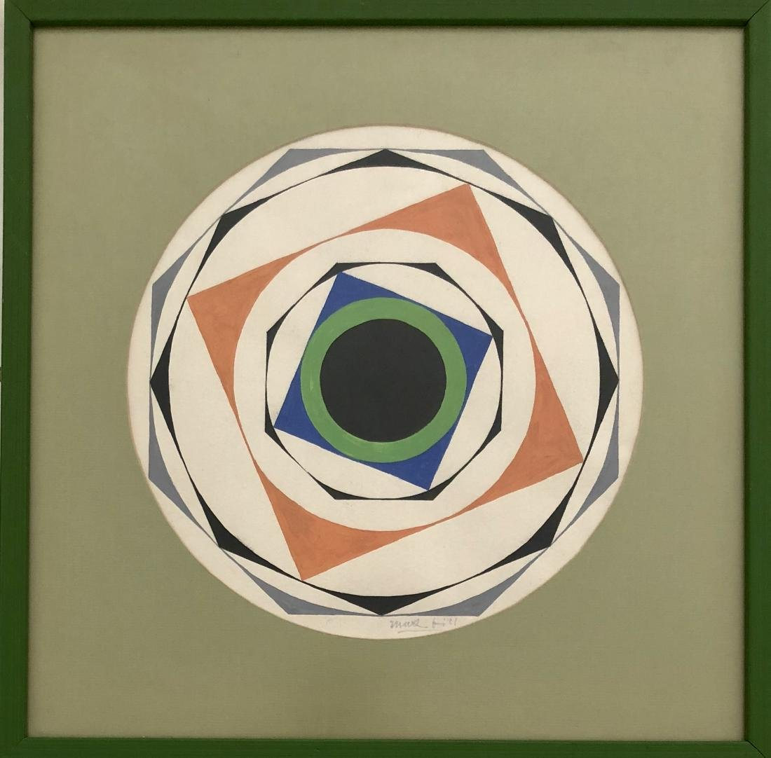 "Max Bill - Gouache on Paper 10.5"" x 10.5"""