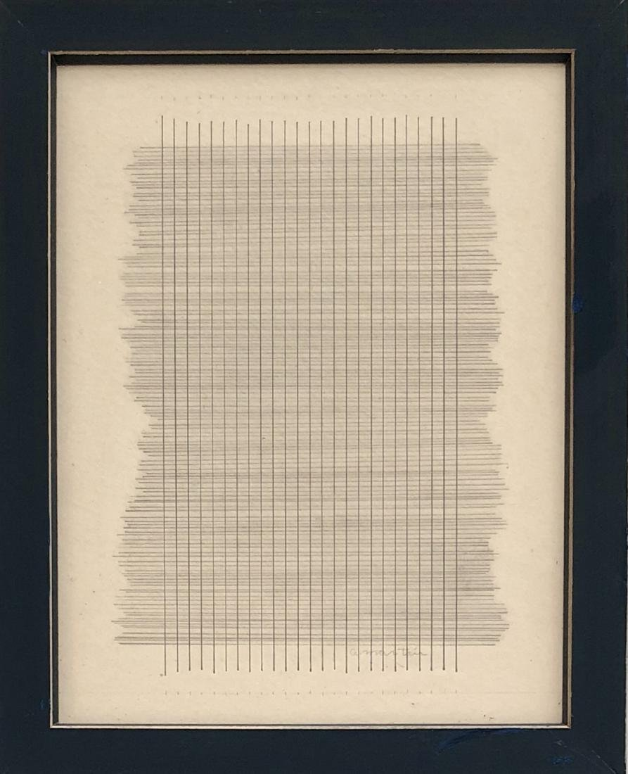 """Agnes Martin - Pencil & Ink on Paper 14"""" x 11"""""""
