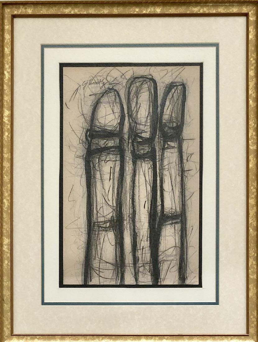 """Cy Twombly - Pencil on Paper 16.5"""" x 10.2"""""""