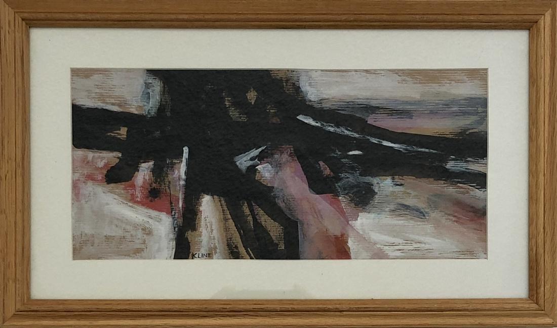 """Franz Kline - Ink & Gouache on Paper 7"""" x 15"""""""