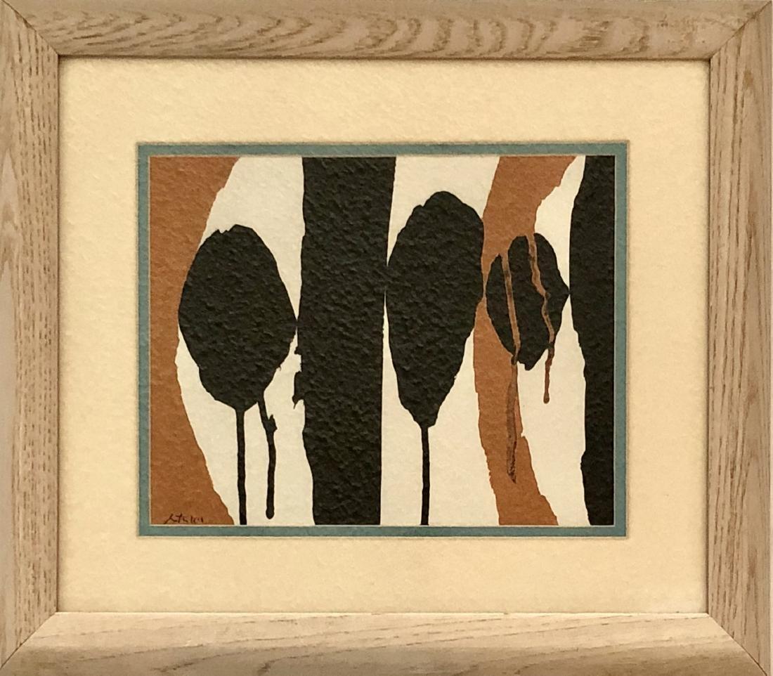 """Robert Motherwell ink & gouache on Paper 8"""" x 10"""""""