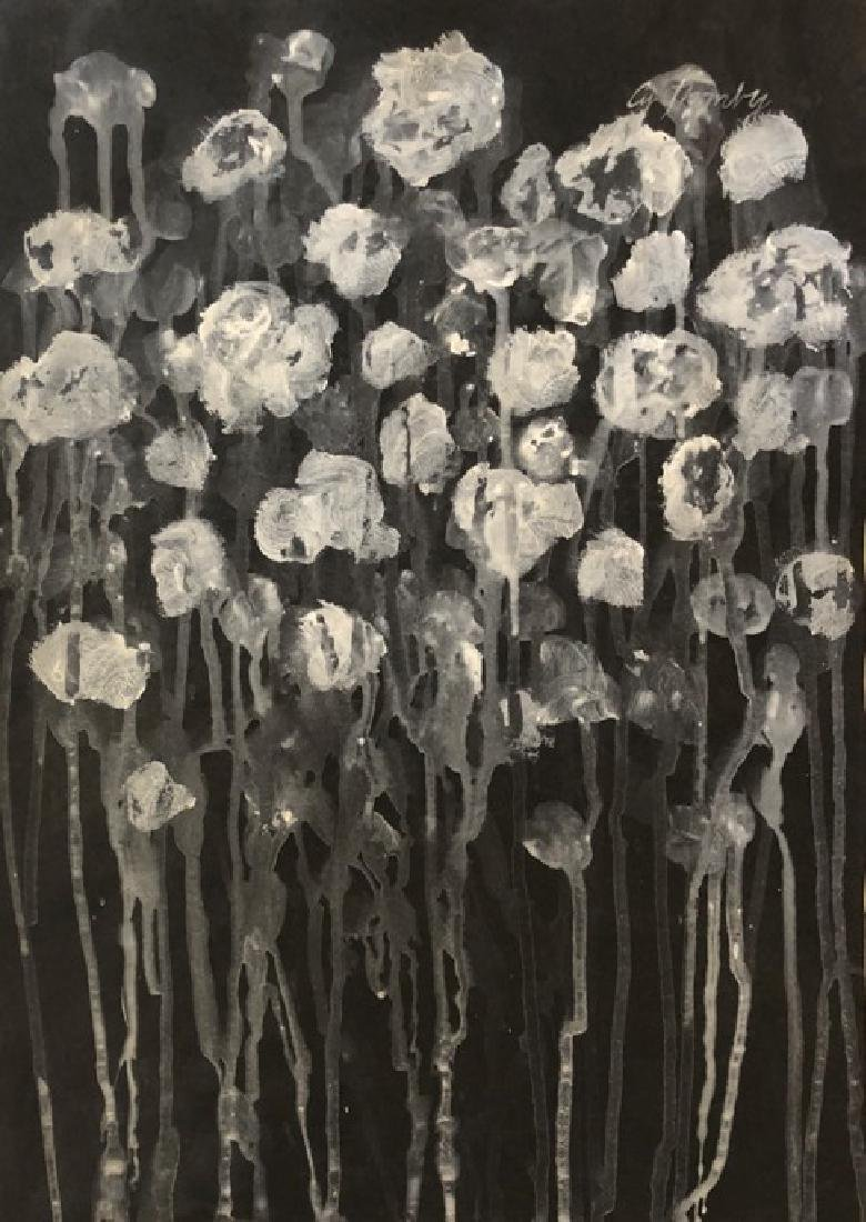 """CY Twombly - Gouache on Paper 16"""" x 11.3"""""""