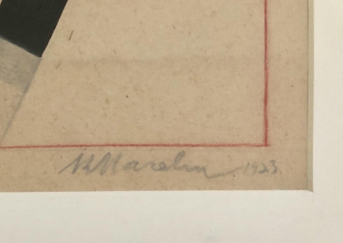 Kazimir Malevich 1923 Pencil & Gouache on Paper - 2