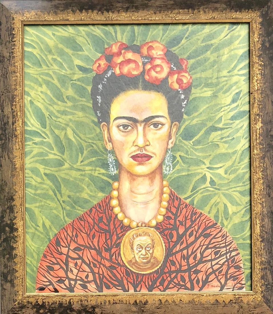 "Frida Kahlo (Attrib) Watercolor on Paper 16.3"" x 13.2"""