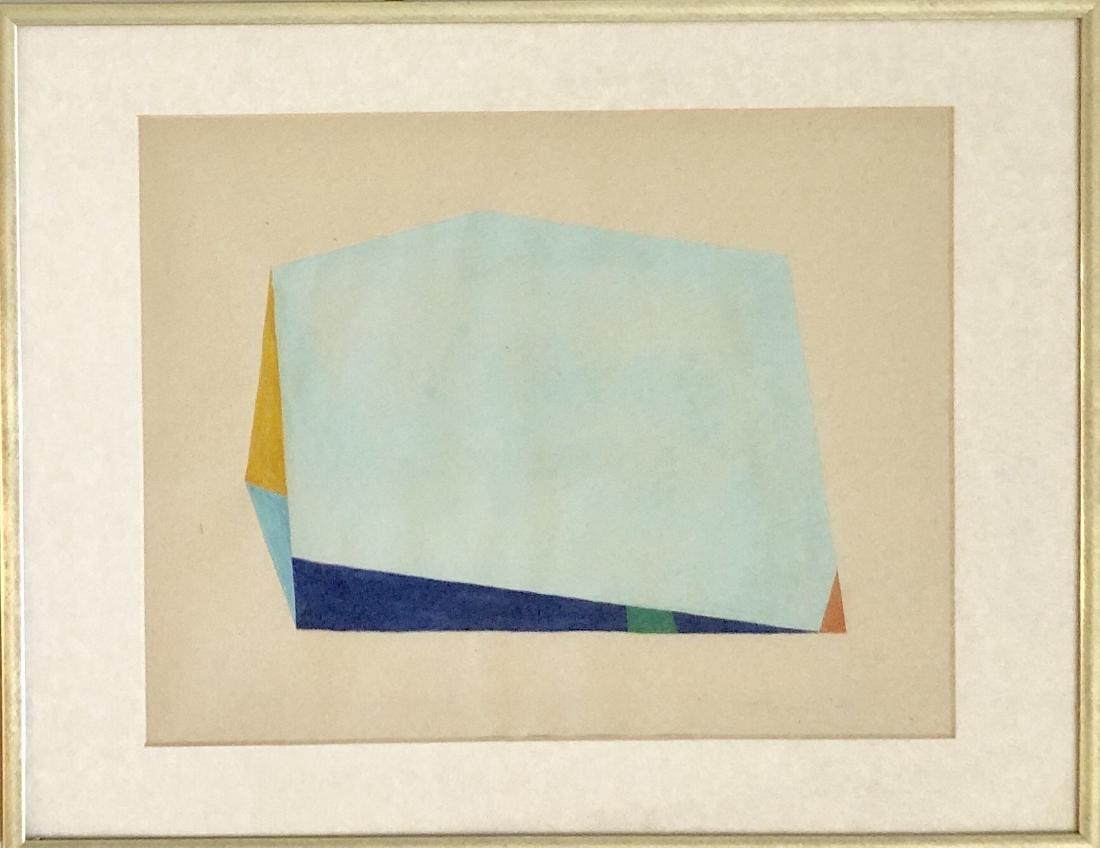 "Anne Truitt 1966 Gouache on Paper 11"" x 14"""