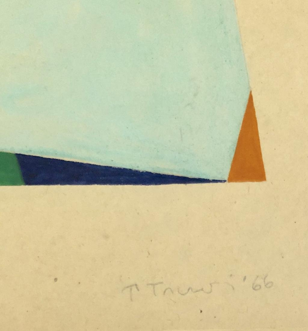 "Anne Truitt 1966 Gouache on Paper 11"" x 14"" - 2"