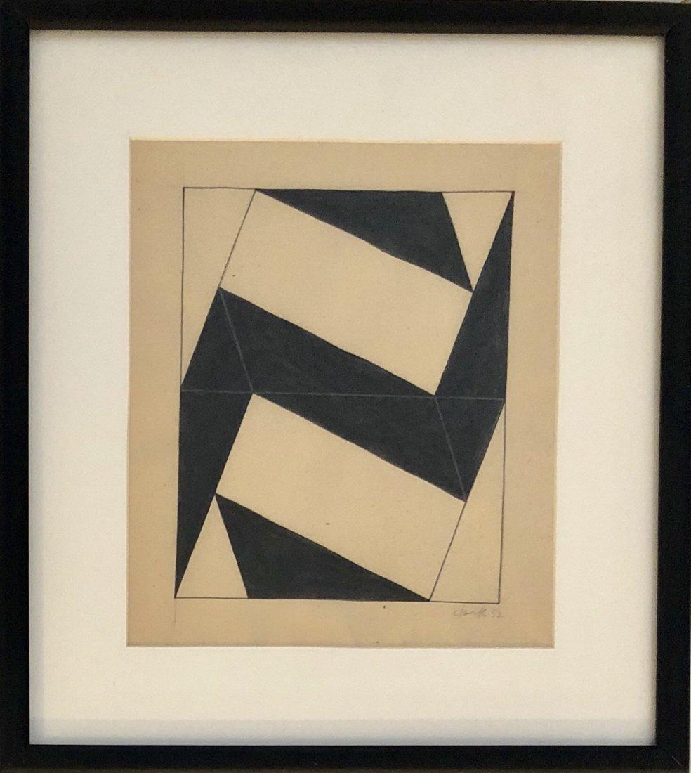 "Ligia Clark 1952 Pencil & Ink on Paper 9.2"" x 8"""