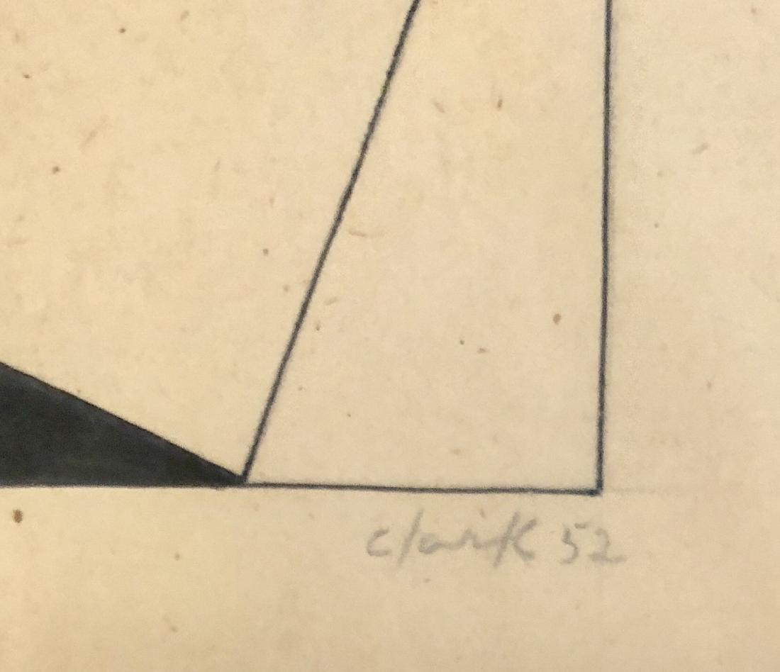 "Ligia Clark 1952 Pencil & Ink on Paper 9.2"" x 8"" - 2"
