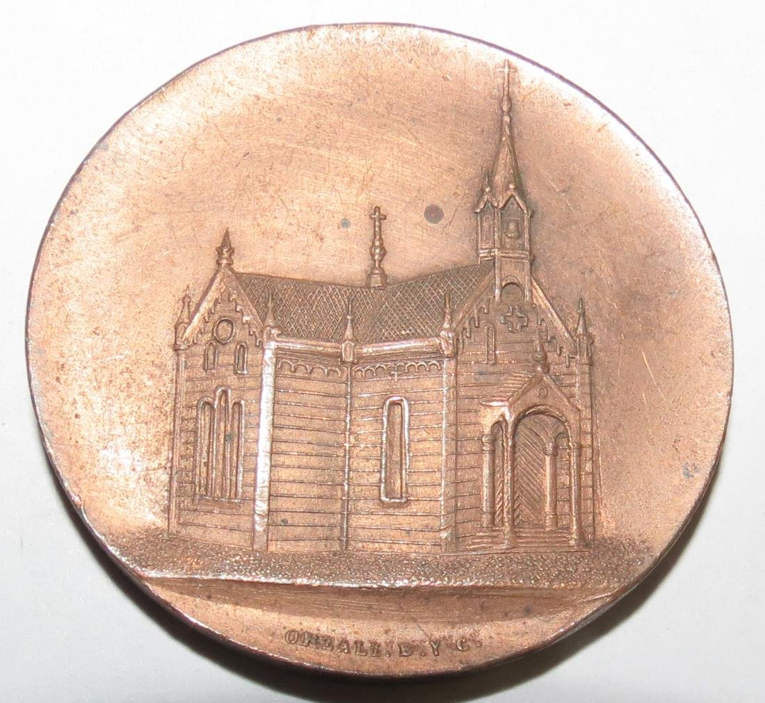 "Bronze Medal - Church of Jesus 1897 By Orzali 1.6"""
