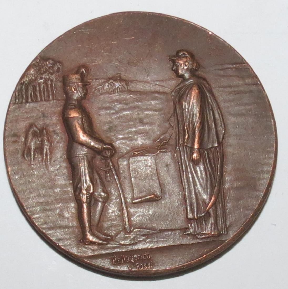 """Bronze Medal - Military 1904 By Rossi Diam: 2"""""""