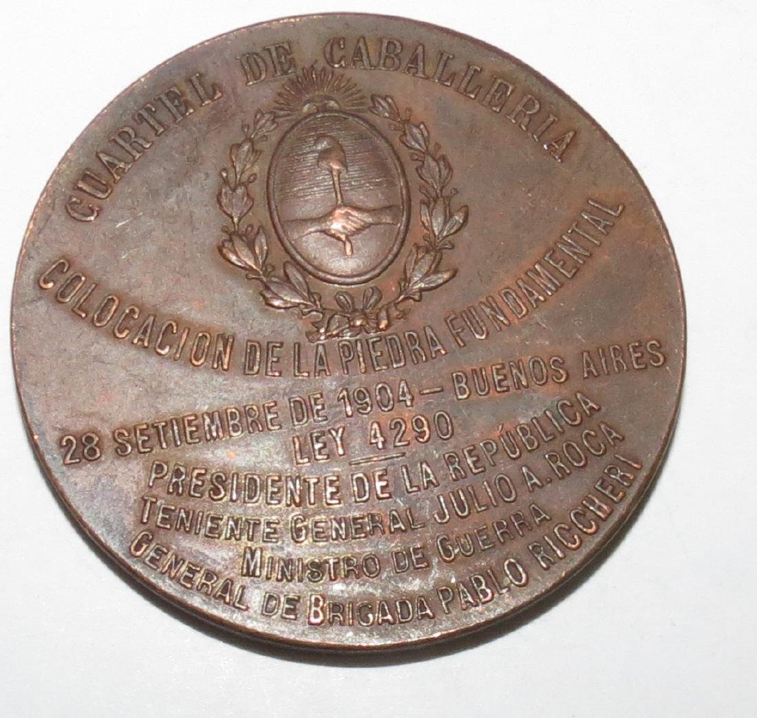 """Bronze Medal - Military 1904 By Rossi Diam: 2"""" - 2"""