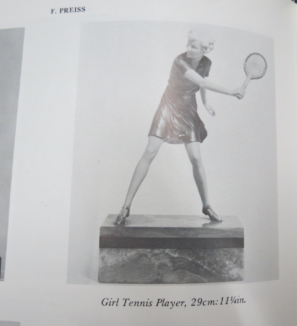 """Ferdinand Preiss - Sculpture """"Girl Tennis Player"""" 11"""" - 5"""