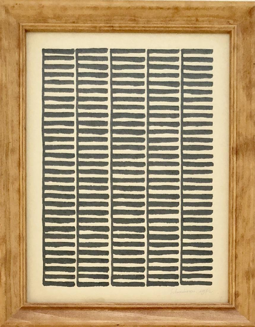"Jan Schoonhoven 1972  Ink on Paper 13"" x 10"""