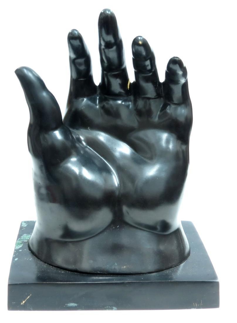 "Fernando Botero Bronze ""The Hand"" 2/6 COA Stamped - 2"