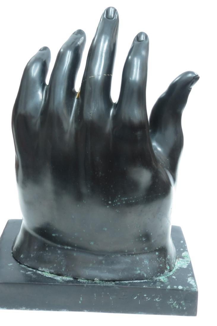 "Fernando Botero Bronze ""The Hand"" 2/6 COA Stamped - 3"