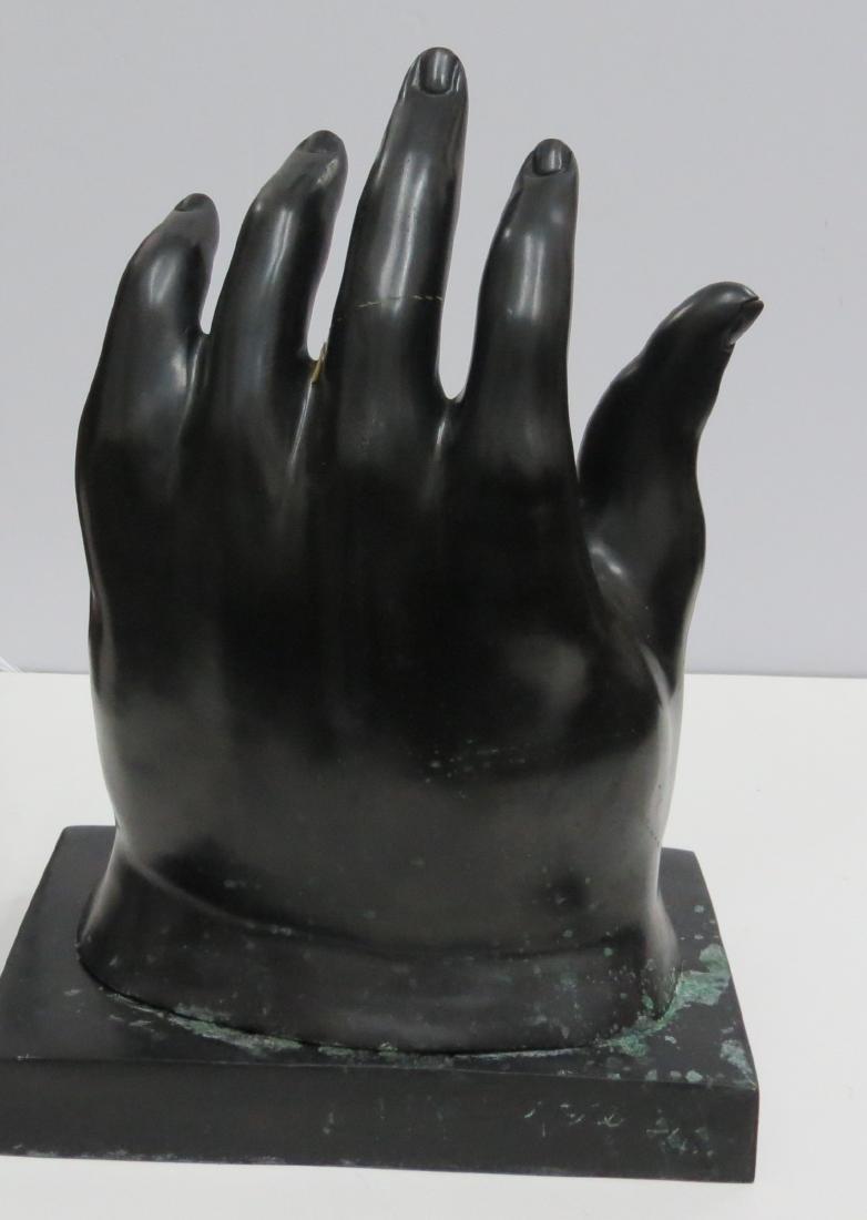 "Fernando Botero Bronze ""The Hand"" 2/6 COA Stamped - 4"