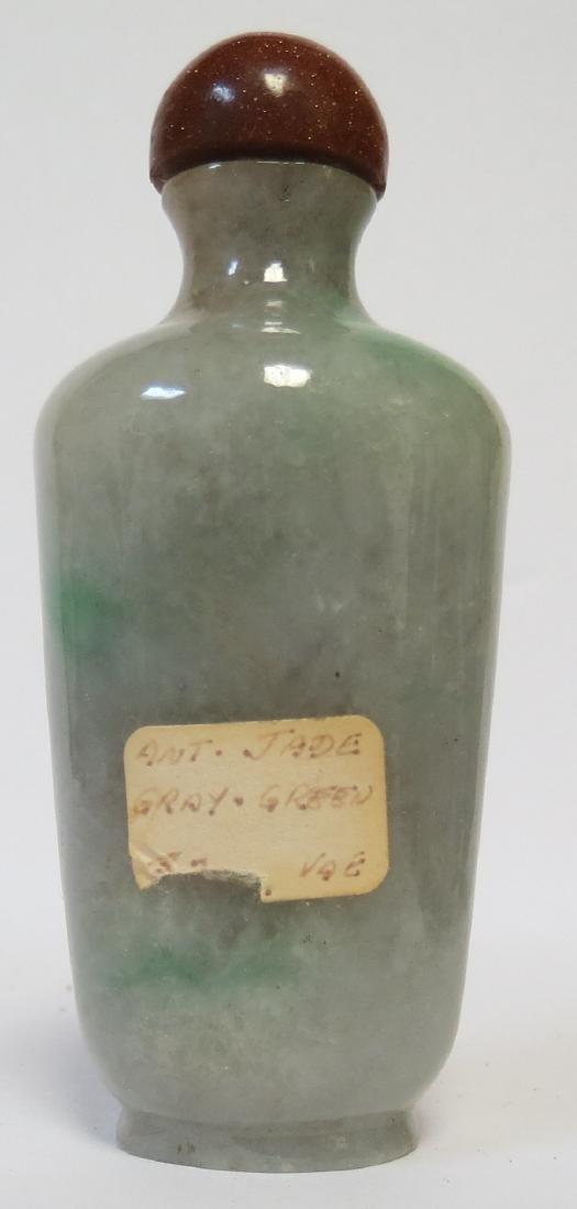 "Snuff Bottle Gray Green Jadeite  3.5"" or 8.7"" - 2"