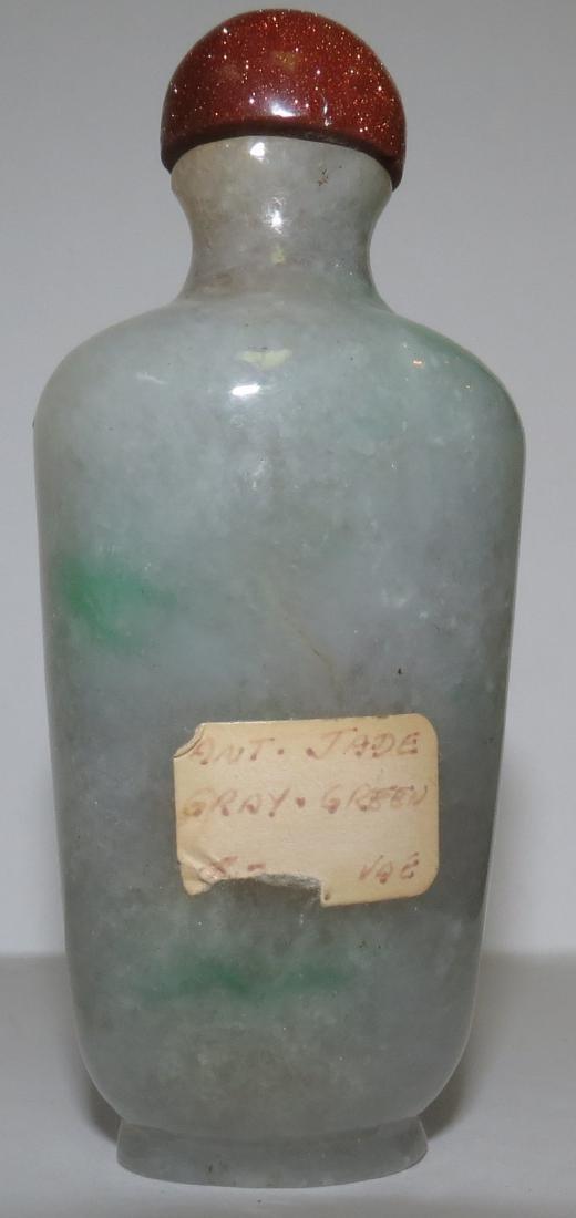 "Snuff Bottle Gray Green Jadeite  3.5"" or 8.7"" - 6"