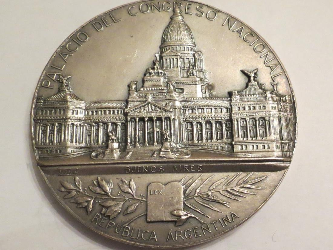 """Silver Medal - Congress Palace 1906 174 Grms D: 2.9"""""""