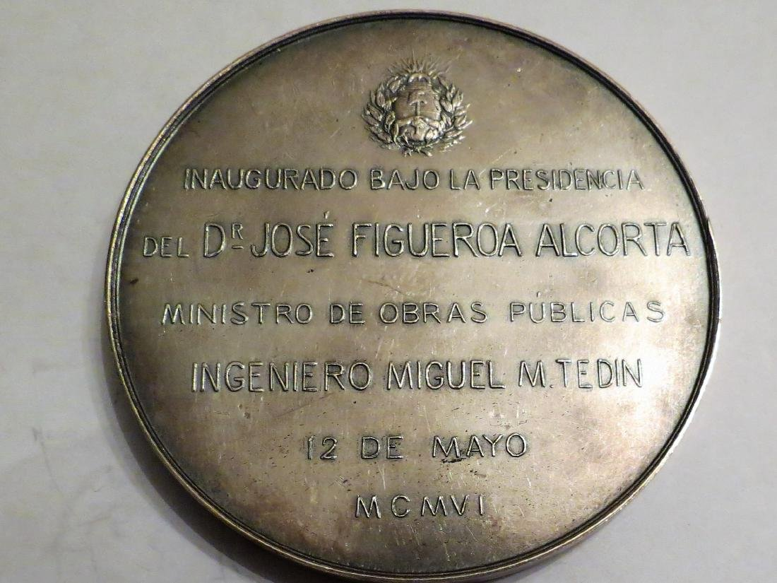 """Silver Medal - Congress Palace 1906 174 Grms D: 2.9"""" - 2"""