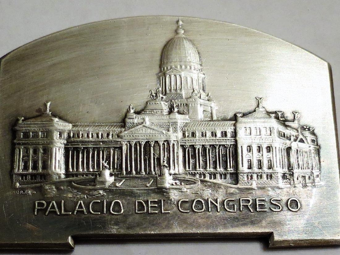 "Silver Medal - Congress Palace 1910 65 Grms 1.8""x2.4"""