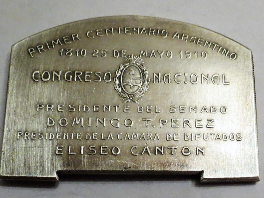 "Silver Medal - Congress Palace 1910 65 Grms 1.8""x2.4"" - 2"