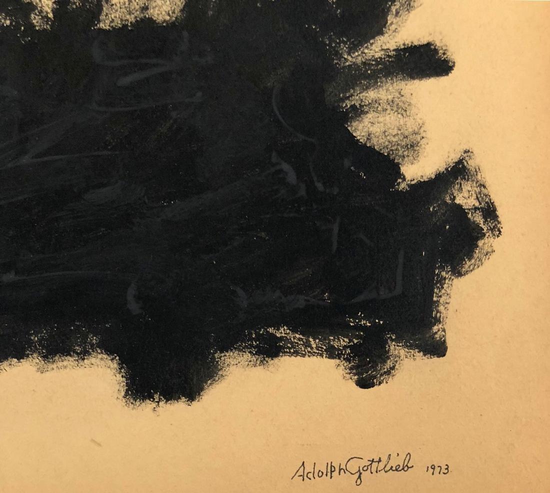 "Adolph Gottlieb 1973 Gouache on paper 13.7"" x 9.7"" - 2"