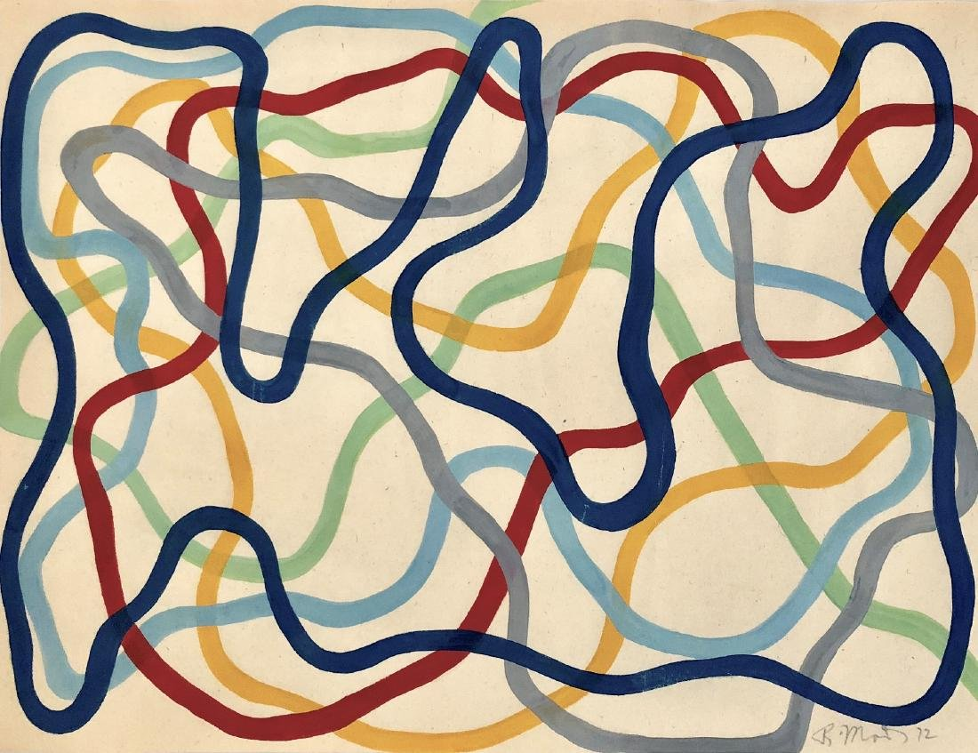 "Brice Marden 1972 Gouache on paper  10.2"" x 13.5"""