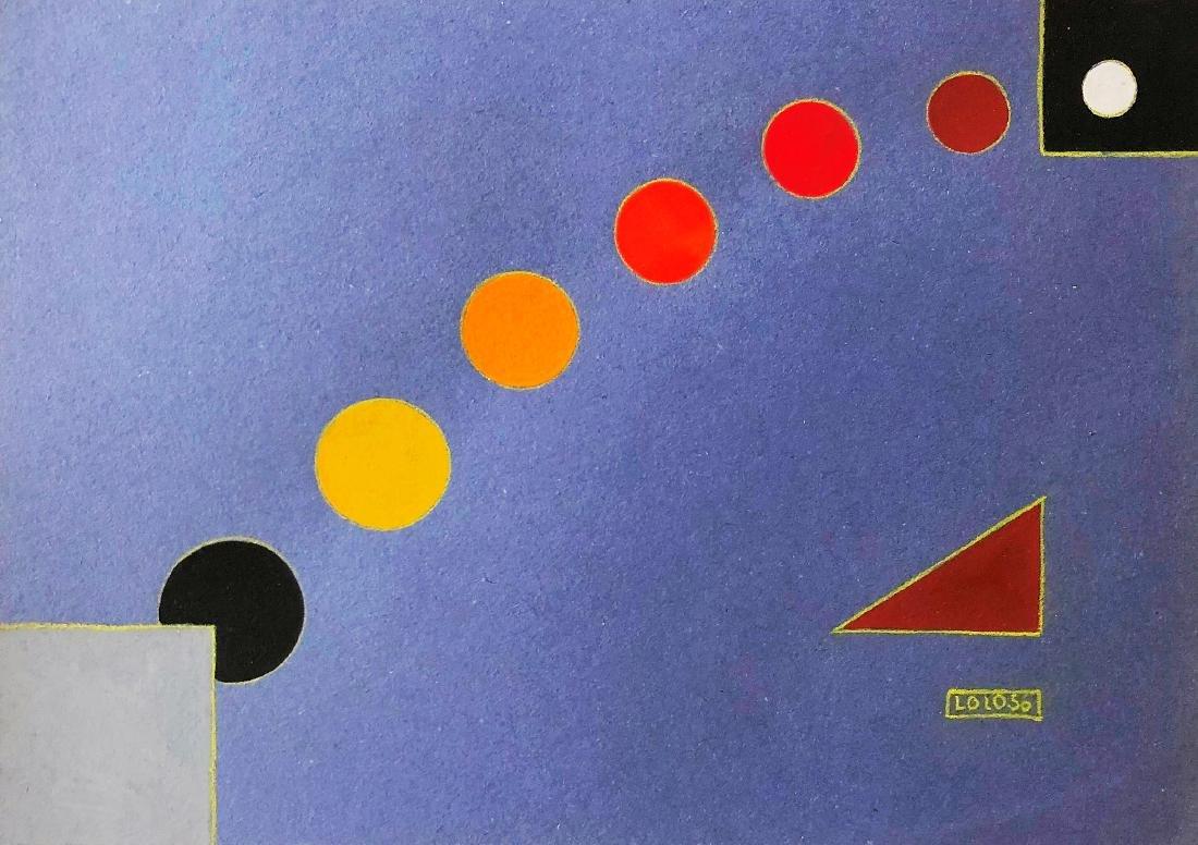 """Lolo Soldevilla 1956 Pencil, gouache on paper 8"""" x 11"""""""