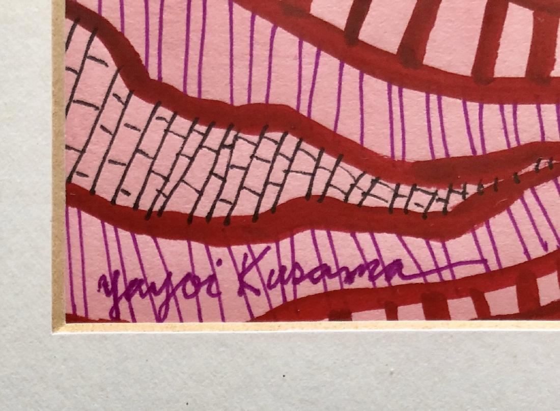 "Yayoi Kusama - Ink & Gouache on Paper 12.2"" x 13.2"" - 2"