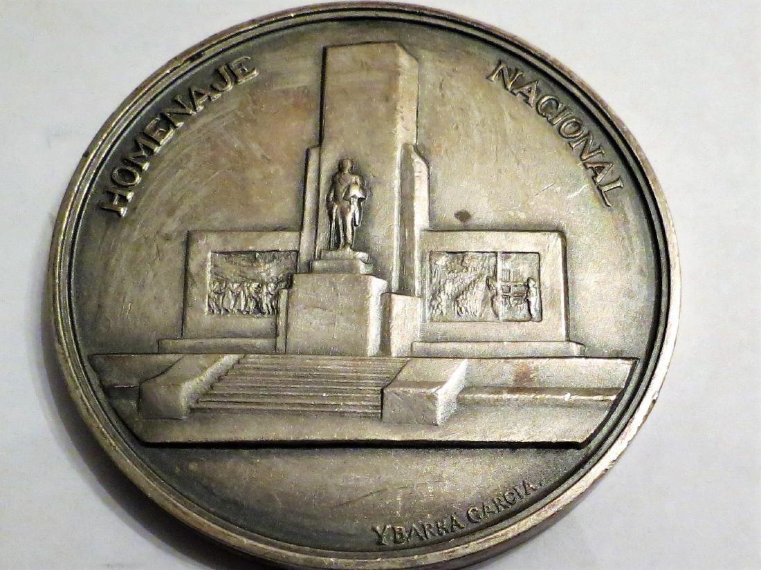 "Silver Medal Art Deco 1943 General Roca 51 Grms 2.1"" - 2"
