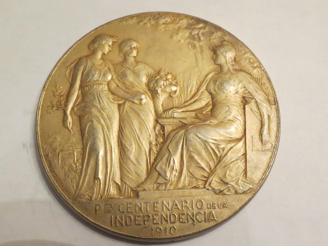 """Silver Medal A. Nouveau 1910 By Lefebvre 81 Grms 2.3"""" - 2"""