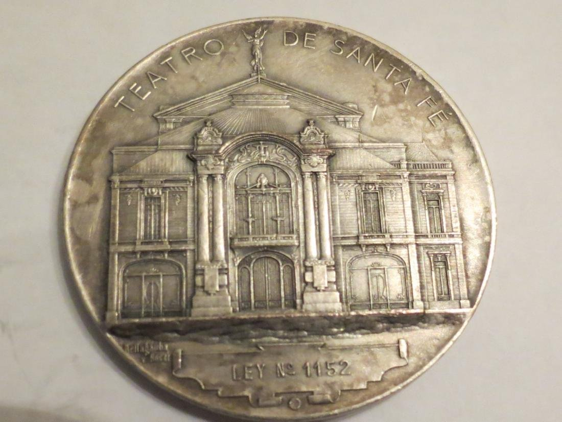 """Silver Medal Theater Sta Fe 1903 62 Grms 2.1"""" Signed"""
