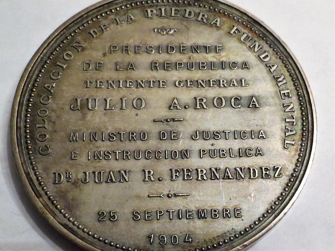 "Silver Medal Education 1904 Corrientes 71 Grms 2.2"" - 2"