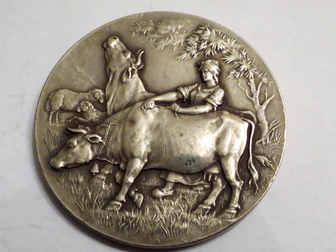 Silver Medal Cattle Exposition 1910 60 Grms 2""