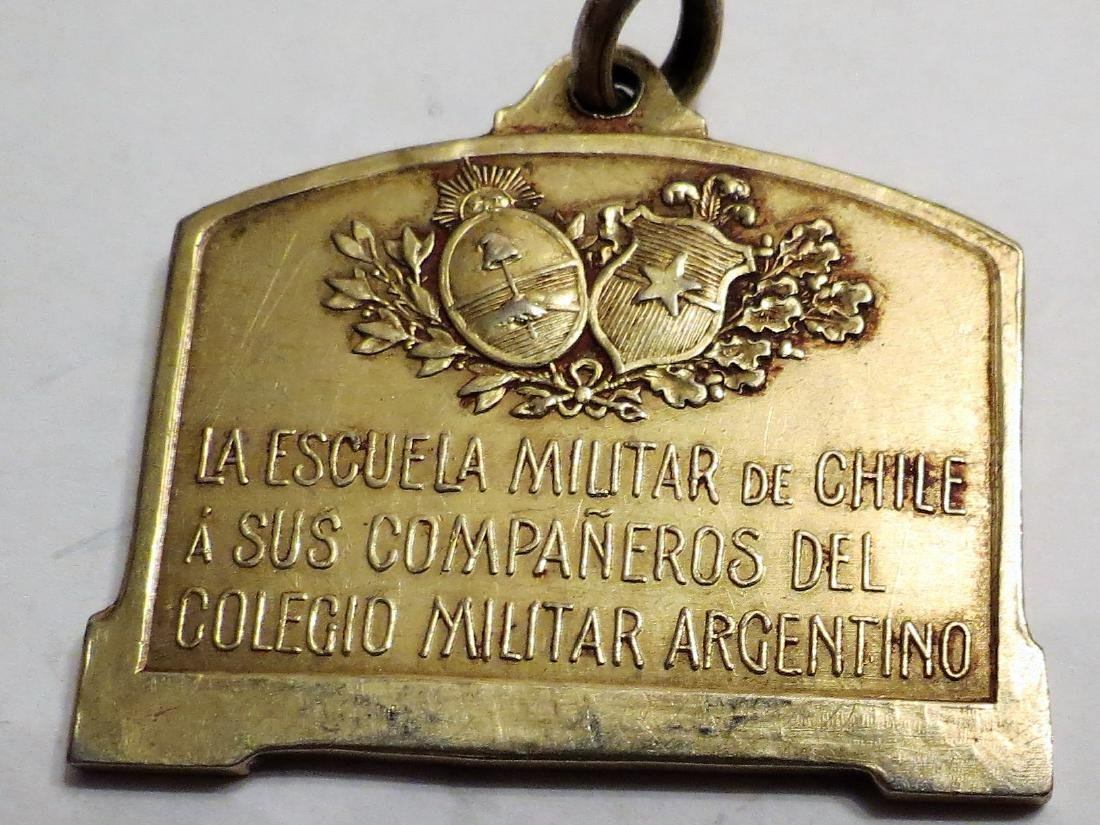 "Silver Medal Chile Military School 1910 17 Grms 1.2"" - 2"